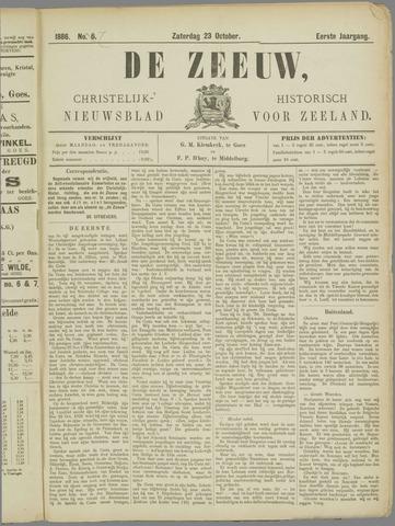De Zeeuw. Christelijk-historisch nieuwsblad voor Zeeland 1886-10-23