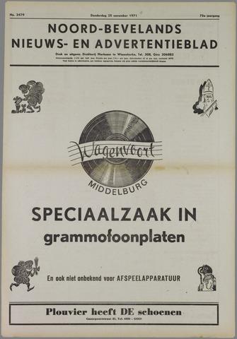 Noord-Bevelands Nieuws- en advertentieblad 1971-11-25