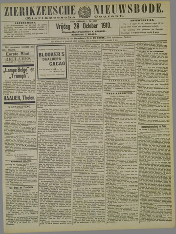 Zierikzeesche Nieuwsbode 1910-10-28