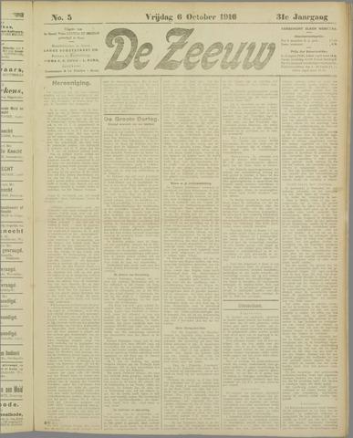 De Zeeuw. Christelijk-historisch nieuwsblad voor Zeeland 1916-10-06