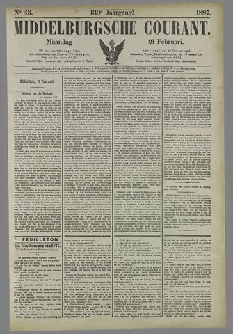 Middelburgsche Courant 1887-02-21