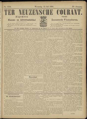 Ter Neuzensche Courant. Algemeen Nieuws- en Advertentieblad voor Zeeuwsch-Vlaanderen / Neuzensche Courant ... (idem) / (Algemeen) nieuws en advertentieblad voor Zeeuwsch-Vlaanderen 1891-07-15