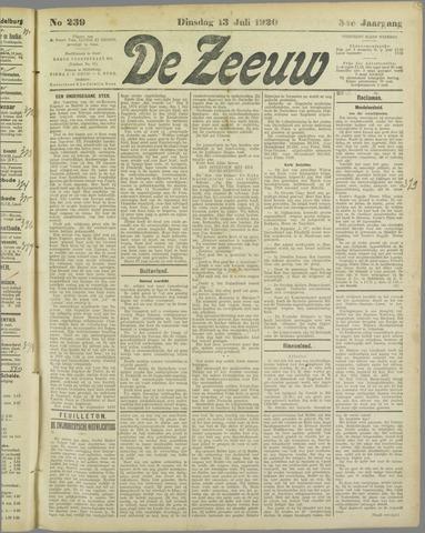 De Zeeuw. Christelijk-historisch nieuwsblad voor Zeeland 1920-07-13