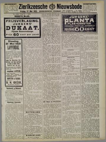 Zierikzeesche Nieuwsbode 1921-05-27