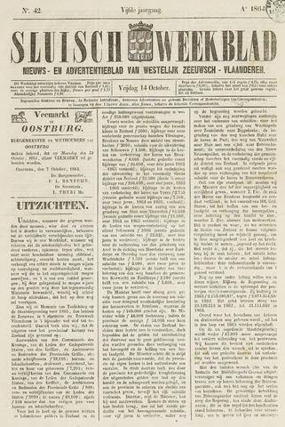 Sluisch Weekblad. Nieuws- en advertentieblad voor Westelijk Zeeuwsch-Vlaanderen 1864-10-14