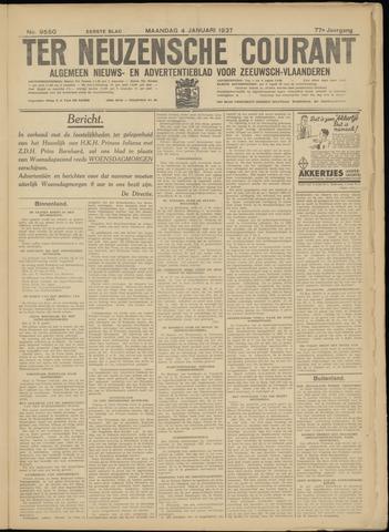 Ter Neuzensche Courant. Algemeen Nieuws- en Advertentieblad voor Zeeuwsch-Vlaanderen / Neuzensche Courant ... (idem) / (Algemeen) nieuws en advertentieblad voor Zeeuwsch-Vlaanderen 1937-01-04
