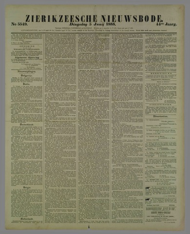 Zierikzeesche Nieuwsbode 1888-06-05