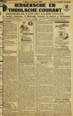 Ierseksche en Thoolsche Courant 1927-02-04