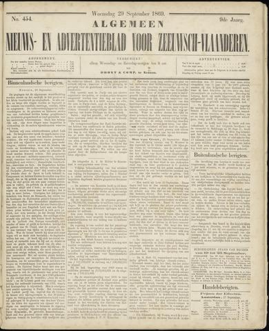 Ter Neuzensche Courant. Algemeen Nieuws- en Advertentieblad voor Zeeuwsch-Vlaanderen / Neuzensche Courant ... (idem) / (Algemeen) nieuws en advertentieblad voor Zeeuwsch-Vlaanderen 1869-09-29
