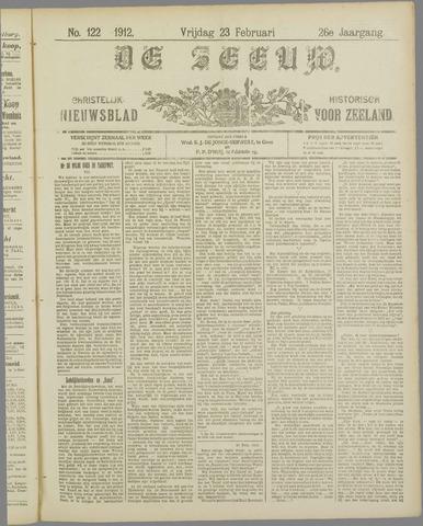 De Zeeuw. Christelijk-historisch nieuwsblad voor Zeeland 1912-02-23