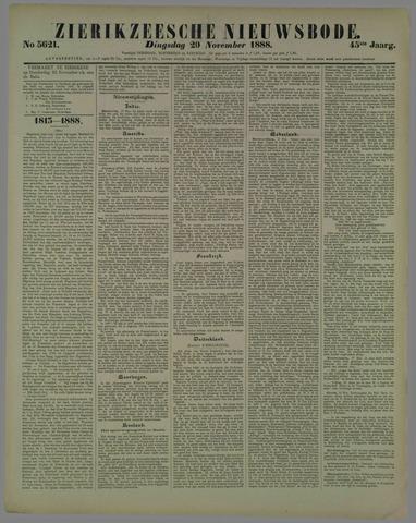 Zierikzeesche Nieuwsbode 1888-11-20