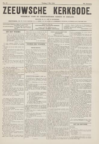 Zeeuwsche kerkbode, weekblad gewijd aan de belangen der gereformeerde kerken/ Zeeuwsch kerkblad 1936-05-01