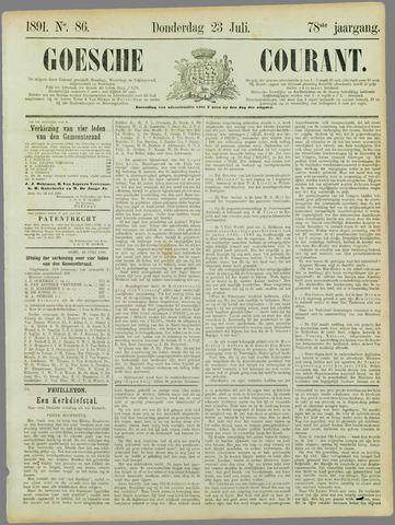 Goessche Courant 1891-07-23