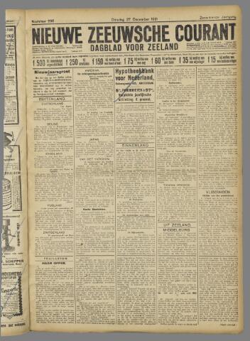 Nieuwe Zeeuwsche Courant 1921-12-27
