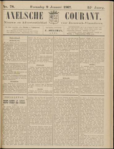 Axelsche Courant 1907-01-09