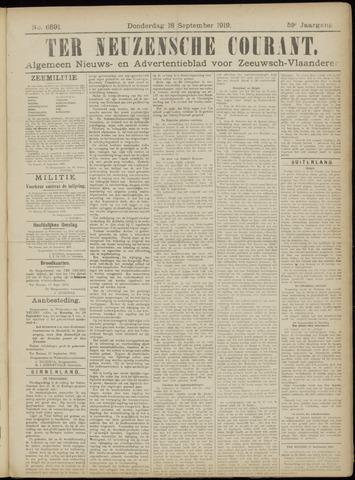 Ter Neuzensche Courant. Algemeen Nieuws- en Advertentieblad voor Zeeuwsch-Vlaanderen / Neuzensche Courant ... (idem) / (Algemeen) nieuws en advertentieblad voor Zeeuwsch-Vlaanderen 1919-09-18