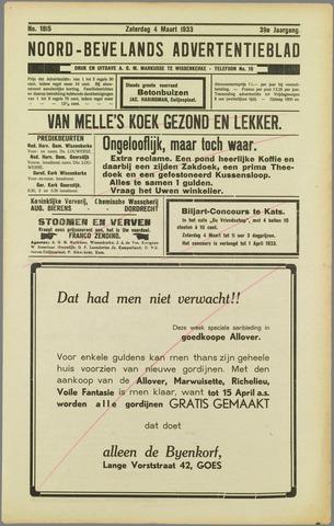 Noord-Bevelands Nieuws- en advertentieblad 1933-03-04