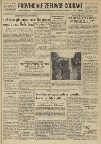 Provinciale Zeeuwse Courant 1951-09-03