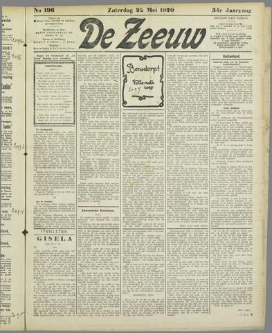 De Zeeuw. Christelijk-historisch nieuwsblad voor Zeeland 1920-05-22