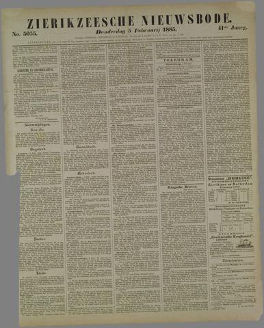 Zierikzeesche Nieuwsbode 1885-02-05