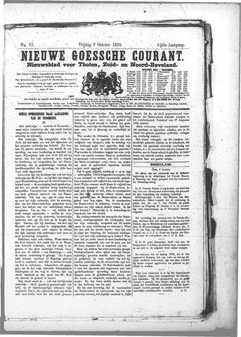 Nieuwe Goessche Courant 1870-10-07
