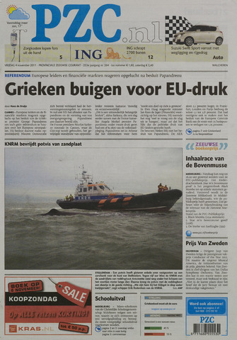 Provinciale Zeeuwse Courant 2011-11-04