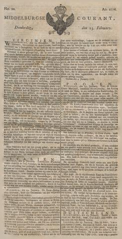 Middelburgsche Courant 1776-02-15