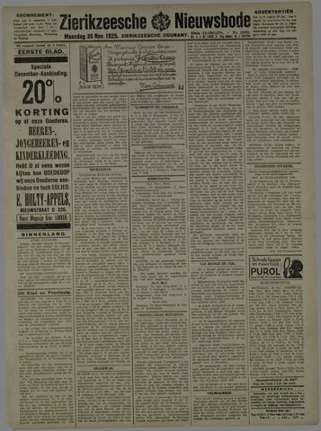 Zierikzeesche Nieuwsbode 1925-11-30