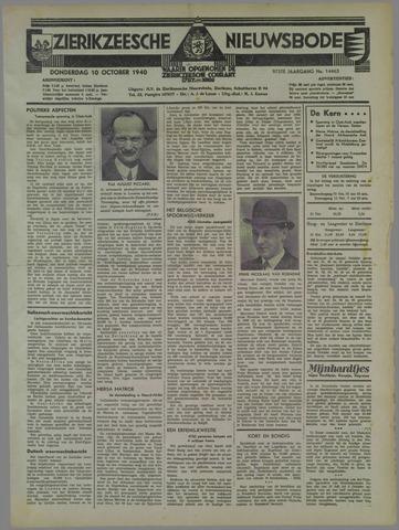 Zierikzeesche Nieuwsbode 1940-10-10