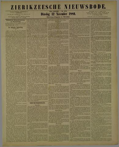 Zierikzeesche Nieuwsbode 1889-11-12