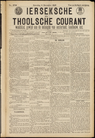 Ierseksche en Thoolsche Courant 1917-12-08
