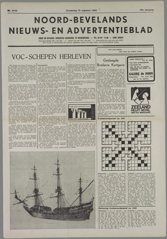 Noord-Bevelands Nieuws- en advertentieblad 1985-08-15