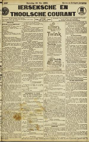 Ierseksche en Thoolsche Courant 1922-05-20