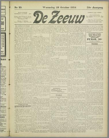 De Zeeuw. Christelijk-historisch nieuwsblad voor Zeeland 1924-10-29