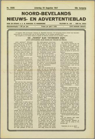 Noord-Bevelands Nieuws- en advertentieblad 1947-08-23