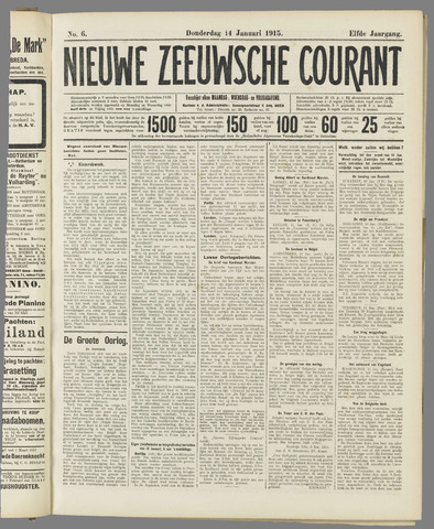 Nieuwe Zeeuwsche Courant 1915-01-14