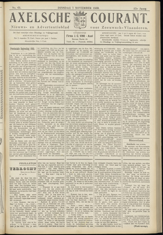Axelsche Courant 1939-11-07