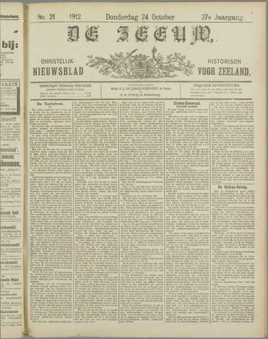 De Zeeuw. Christelijk-historisch nieuwsblad voor Zeeland 1912-10-24