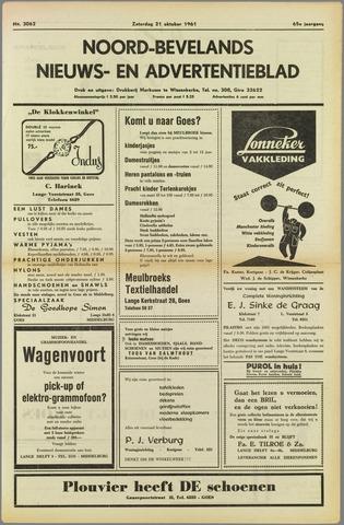 Noord-Bevelands Nieuws- en advertentieblad 1961-10-21
