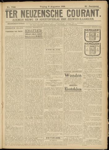 Ter Neuzensche Courant. Algemeen Nieuws- en Advertentieblad voor Zeeuwsch-Vlaanderen / Neuzensche Courant ... (idem) / (Algemeen) nieuws en advertentieblad voor Zeeuwsch-Vlaanderen 1926-08-06