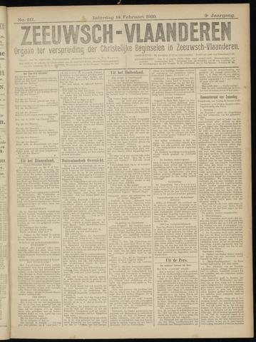 Luctor et Emergo. Antirevolutionair nieuws- en advertentieblad voor Zeeland / Zeeuwsch-Vlaanderen. Orgaan ter verspreiding van de christelijke beginselen in Zeeuwsch-Vlaanderen 1920-02-14