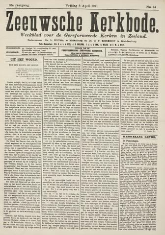 Zeeuwsche kerkbode, weekblad gewijd aan de belangen der gereformeerde kerken/ Zeeuwsch kerkblad 1921-04-08