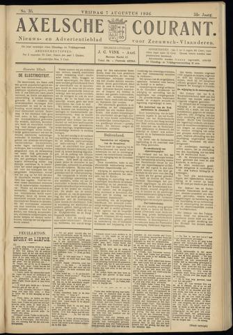 Axelsche Courant 1936-08-07