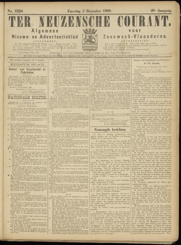 Ter Neuzensche Courant. Algemeen Nieuws- en Advertentieblad voor Zeeuwsch-Vlaanderen / Neuzensche Courant ... (idem) / (Algemeen) nieuws en advertentieblad voor Zeeuwsch-Vlaanderen 1908-12-05