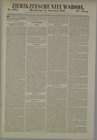 Zierikzeesche Nieuwsbode 1885-01-29