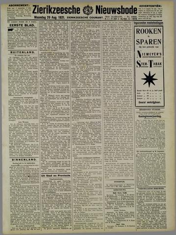 Zierikzeesche Nieuwsbode 1921-08-29