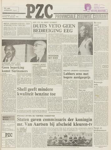 Provinciale Zeeuwse Courant 1974-09-28