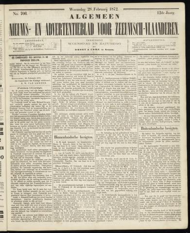 Ter Neuzensche Courant. Algemeen Nieuws- en Advertentieblad voor Zeeuwsch-Vlaanderen / Neuzensche Courant ... (idem) / (Algemeen) nieuws en advertentieblad voor Zeeuwsch-Vlaanderen 1872-02-28