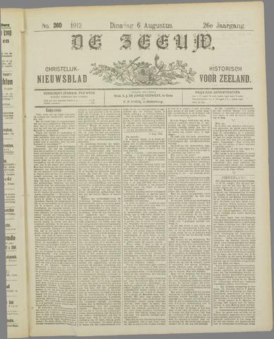 De Zeeuw. Christelijk-historisch nieuwsblad voor Zeeland 1912-08-06
