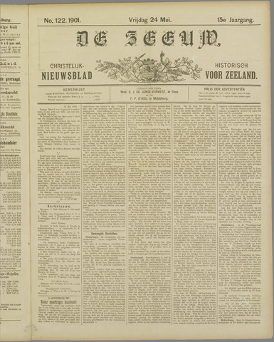 De Zeeuw. Christelijk-historisch nieuwsblad voor Zeeland 1901-05-24